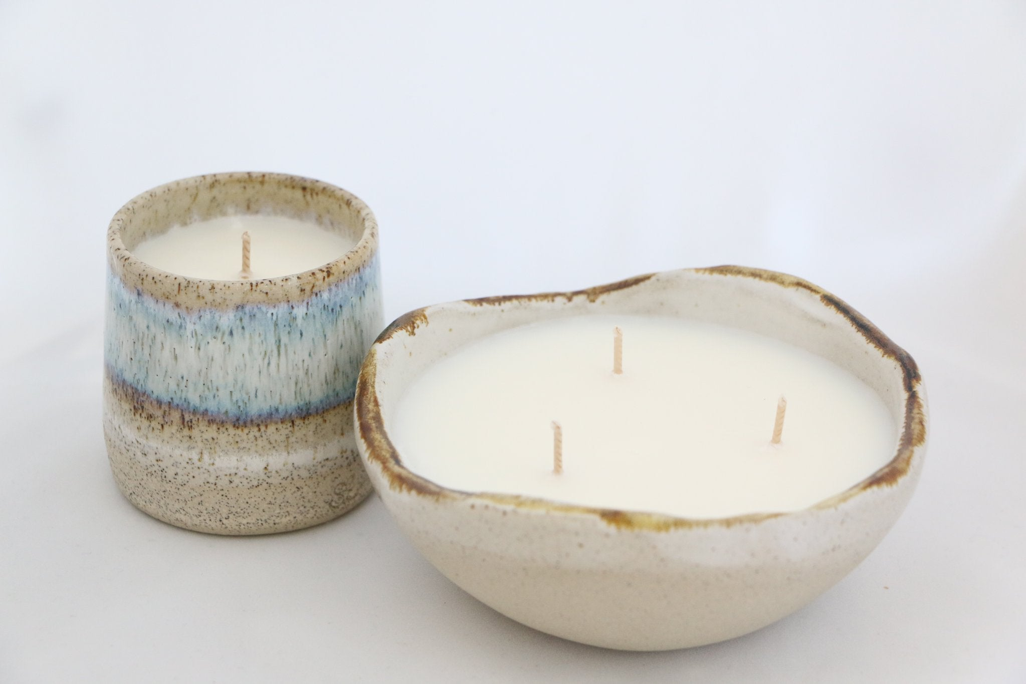 Sand Ceramic Bowl Candle