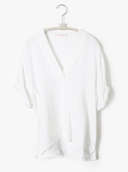 White Avery Gauze Top