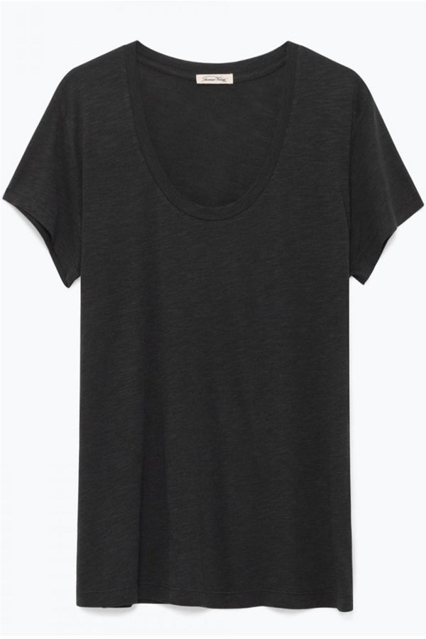 Carbon Scoop Neck Tee