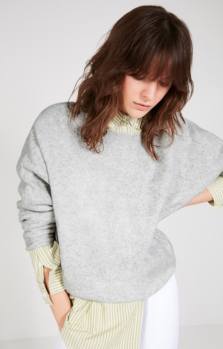 American Vintage Pullover in Heather Grey
