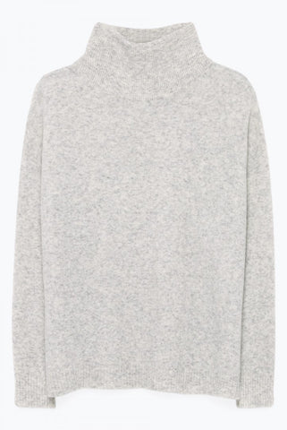 Round Neck Jumper in Polar Melange