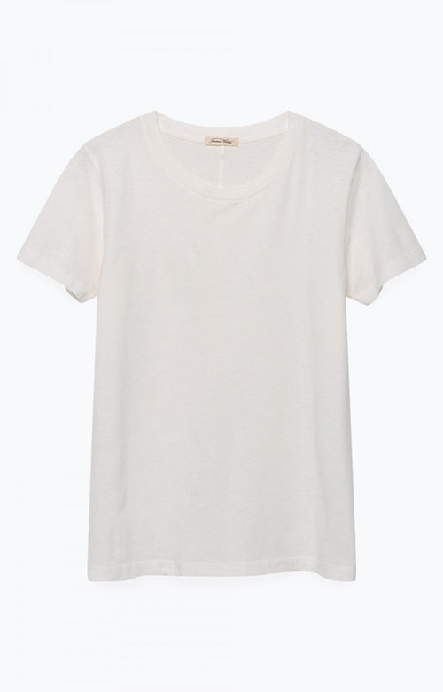 White Slim Fit Round Neck Tee