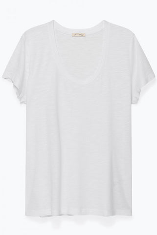 Heather Grey Vee Neck Tee