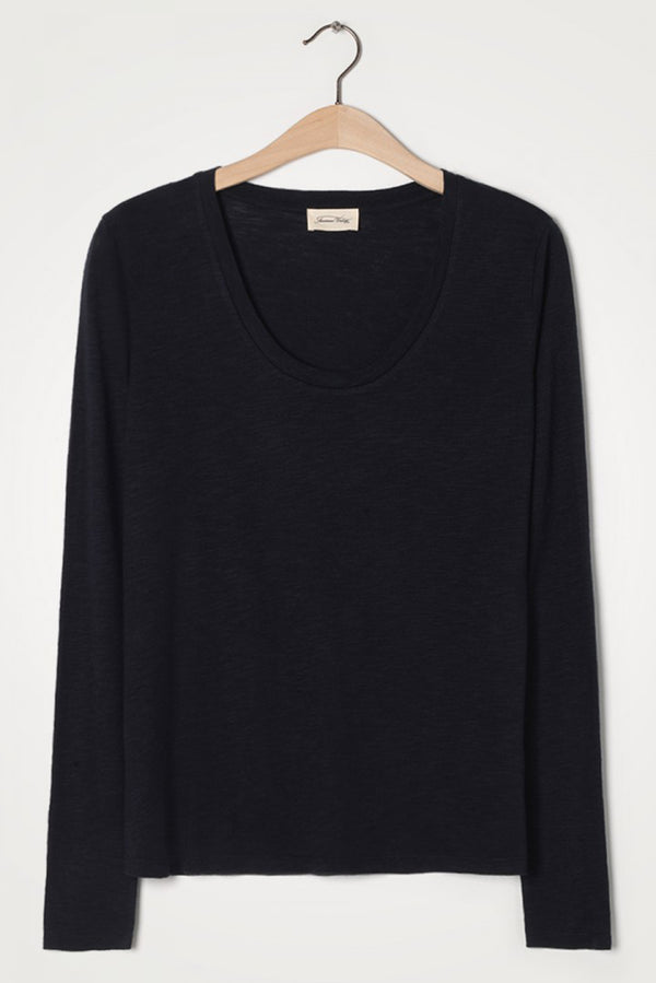 Navy Long Sleeve Round Neck Tee (XS)