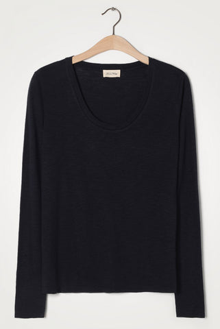 White Long Sleeve Round Neck Tee