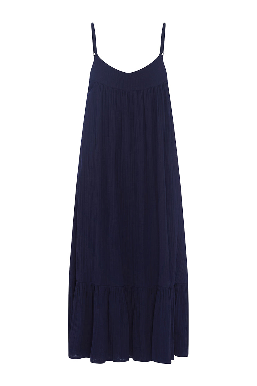 Navy Mia Maxi Dress