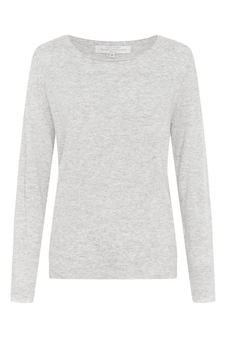 Vee Neck Lightweight Sweat in White (Large)