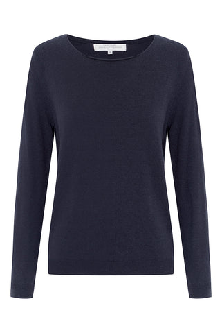 Long Sleeved Vee Neck Jumper in Sky Blue