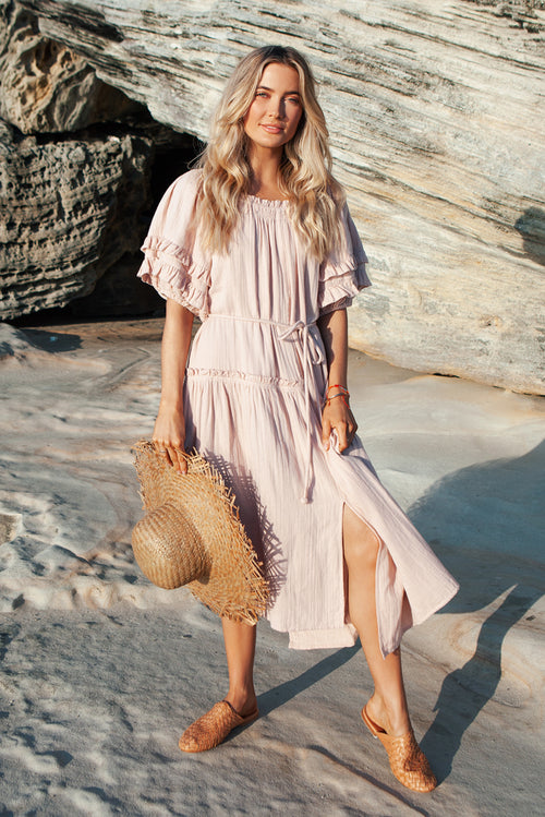 Pink Martina Ruffle Dress
