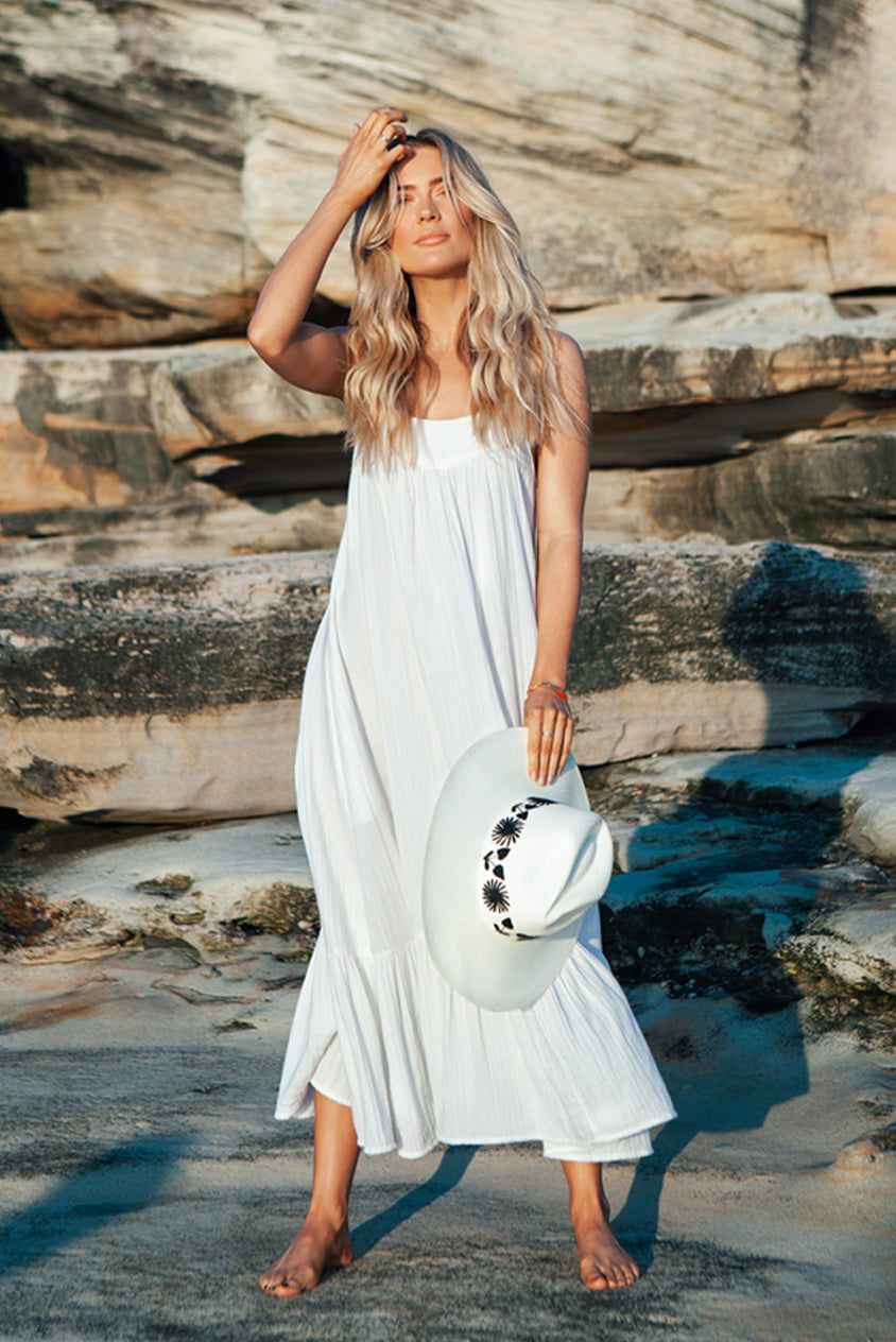 White Mia Maxi Dress
