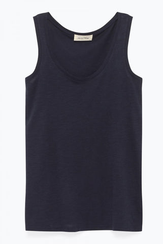 Navy Vee Neck Tee