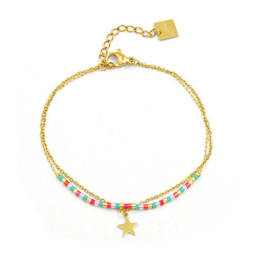 Beaded Zoe Bracelet with Star