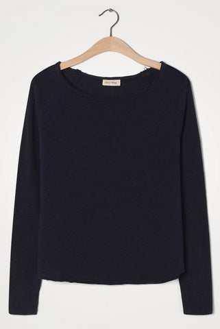Carbon Long Sleeve Round Neck Tee