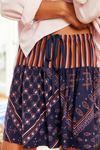 Navy Dana Skirt