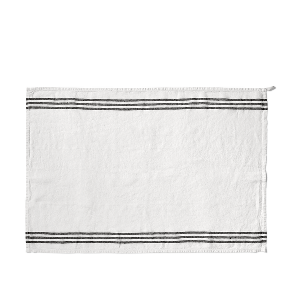 White Linen Tea Towel