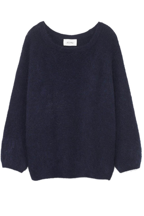 Boatneck Neck Jumper in Night Melange