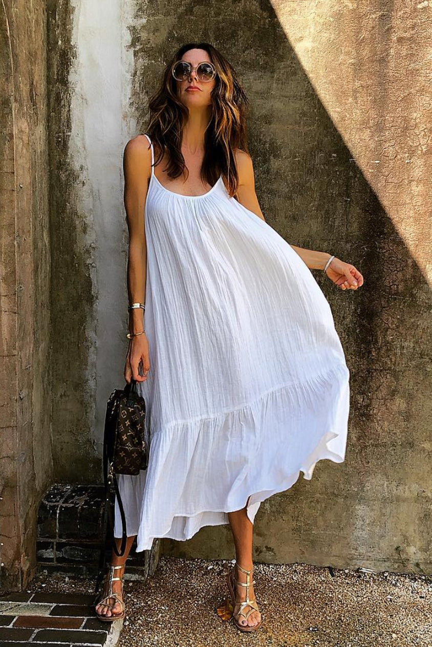 White Baja Maxi Dress