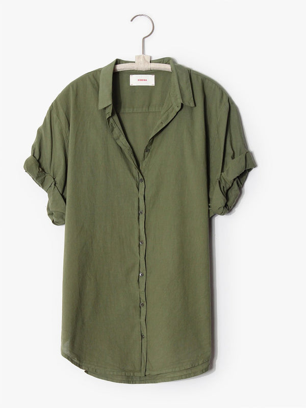 XiRENA Olive Palm Channing  Shirt