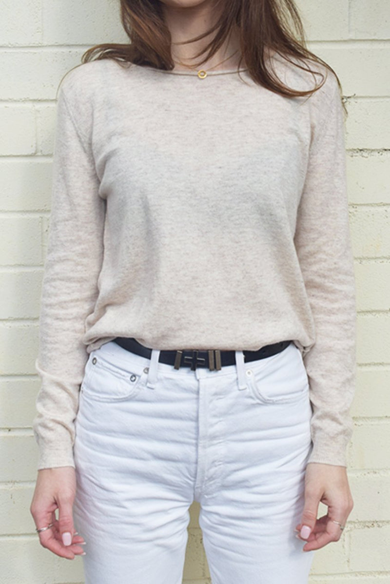 Oatmeal Marle Everyday Sweater