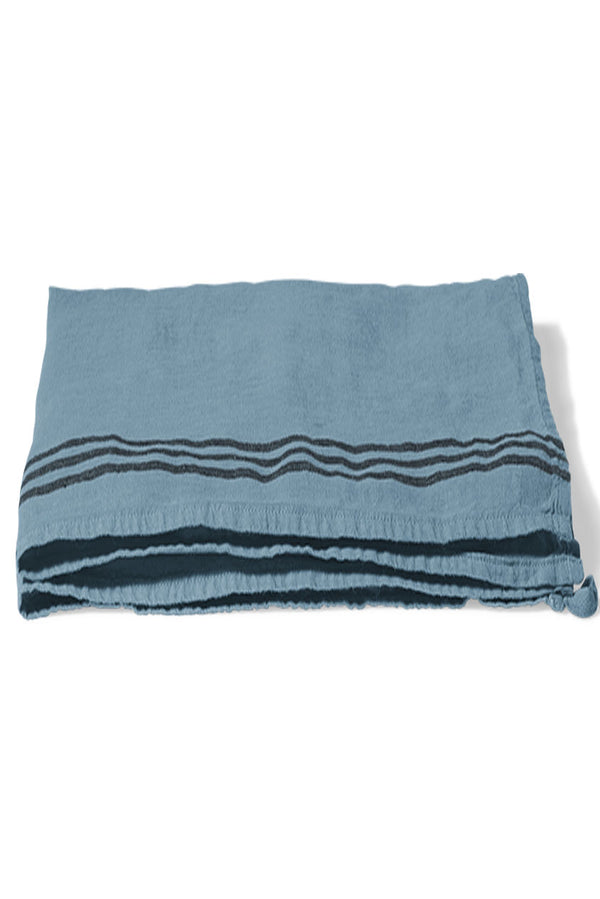 Blue Stripe Linen Tea Towel