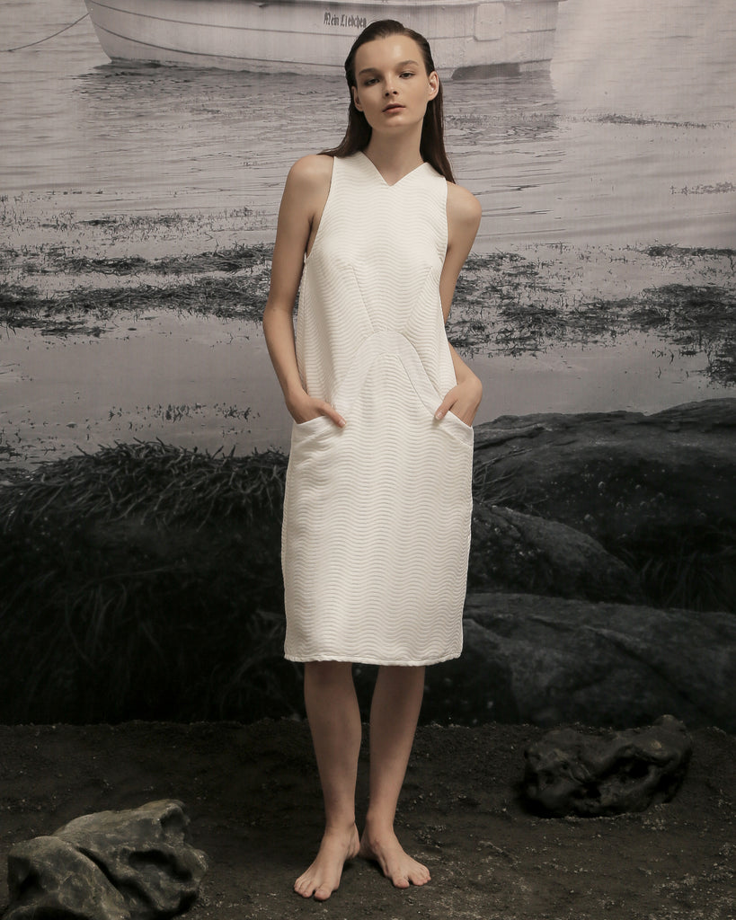 LYLL STRUCTURED A-LINE DRESS