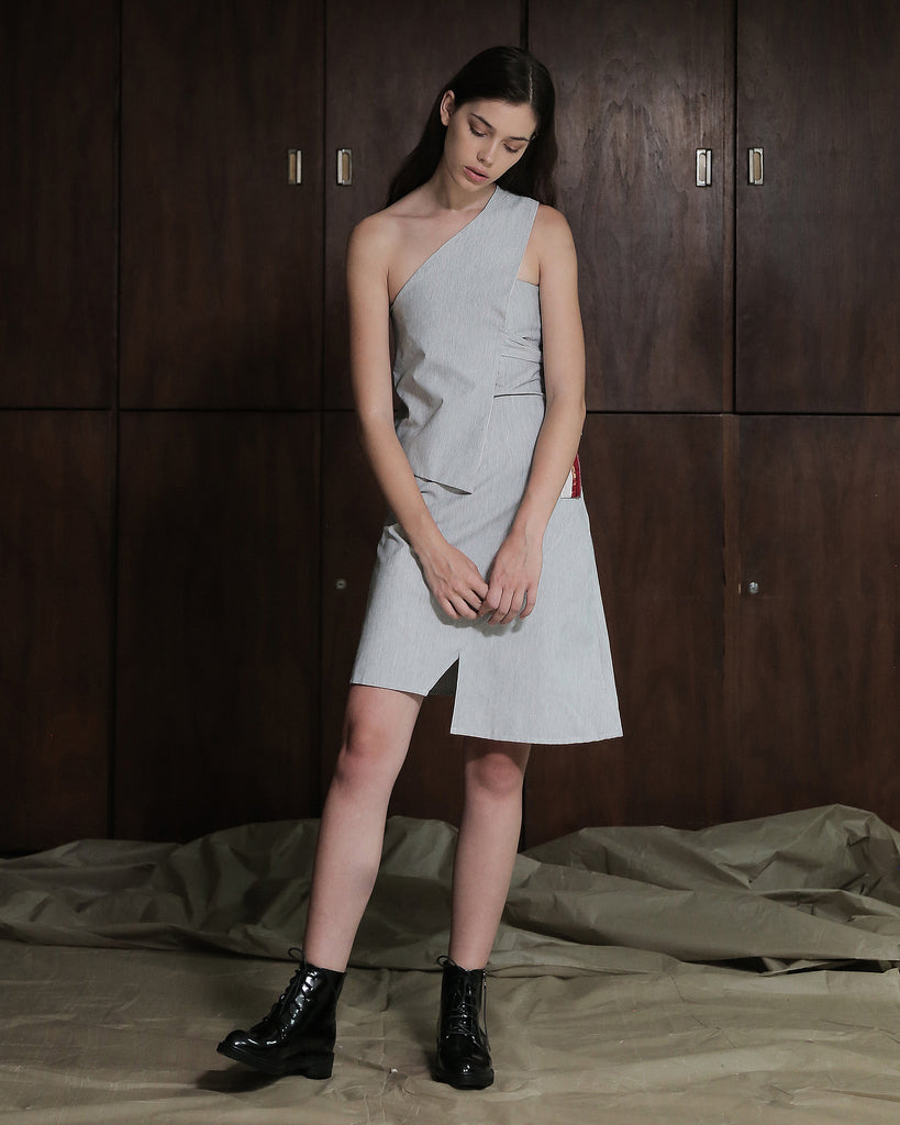 KAELIN DRESS W/ REVERSIBLE SASH - ZHETTOVA Studio