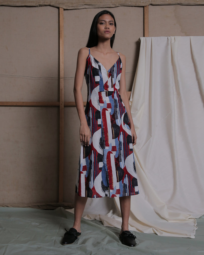 MIJA MIDI DRESS IN PRINT - ZHETTOVA Studio