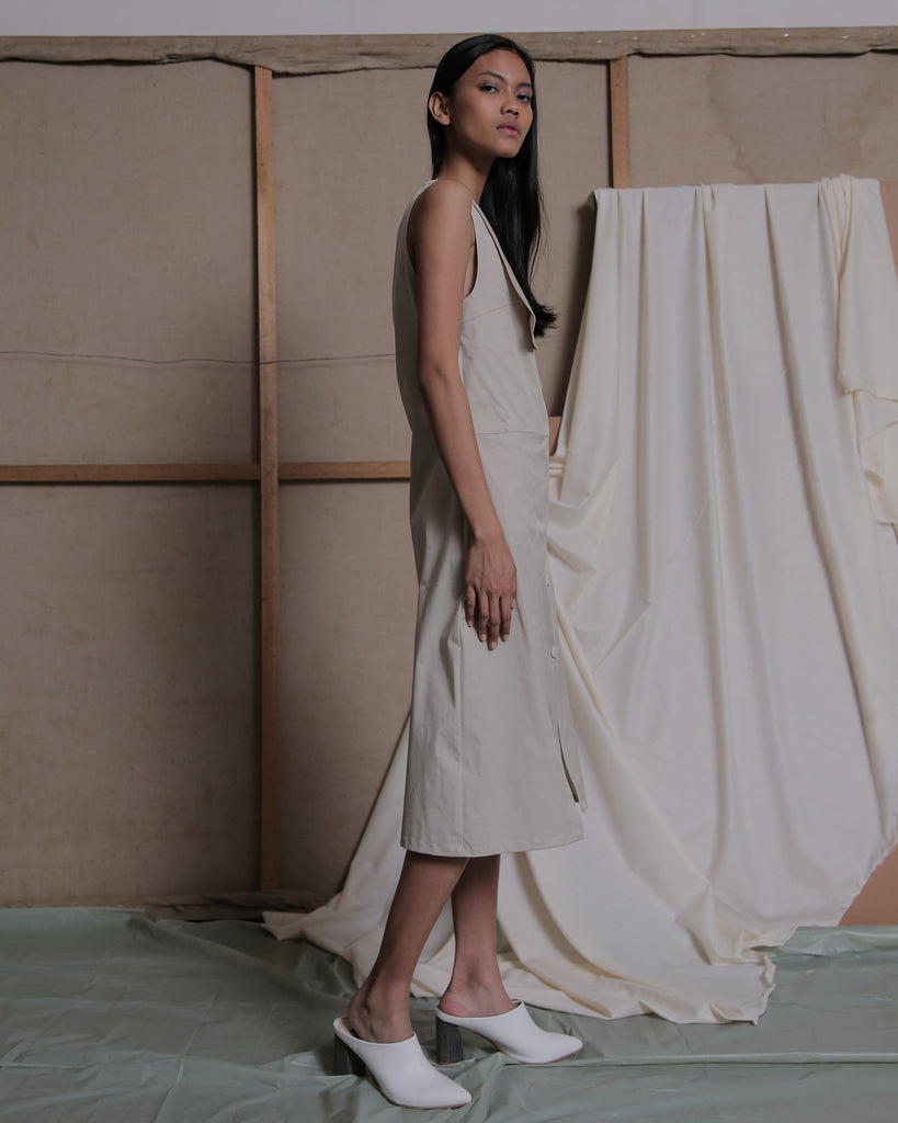 ULSAN BUTTON UP DRESS - ZHETTOVA Studio