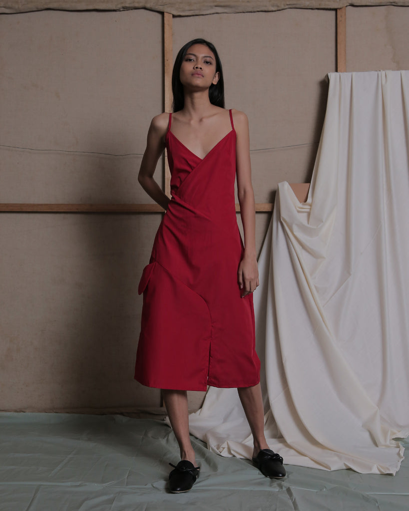 WILLO STRAP DRESS IN RED - ZHETTOVA Studio