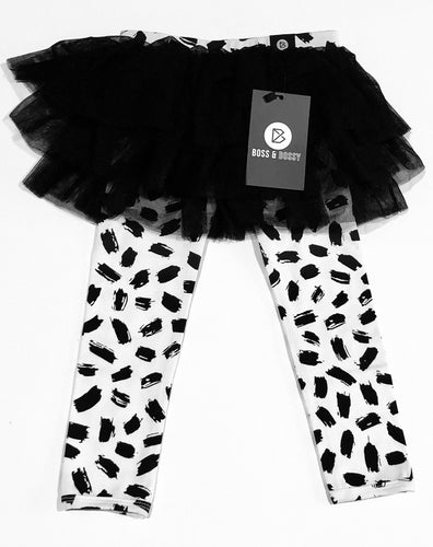 Tutu leggings- Brush Stroke