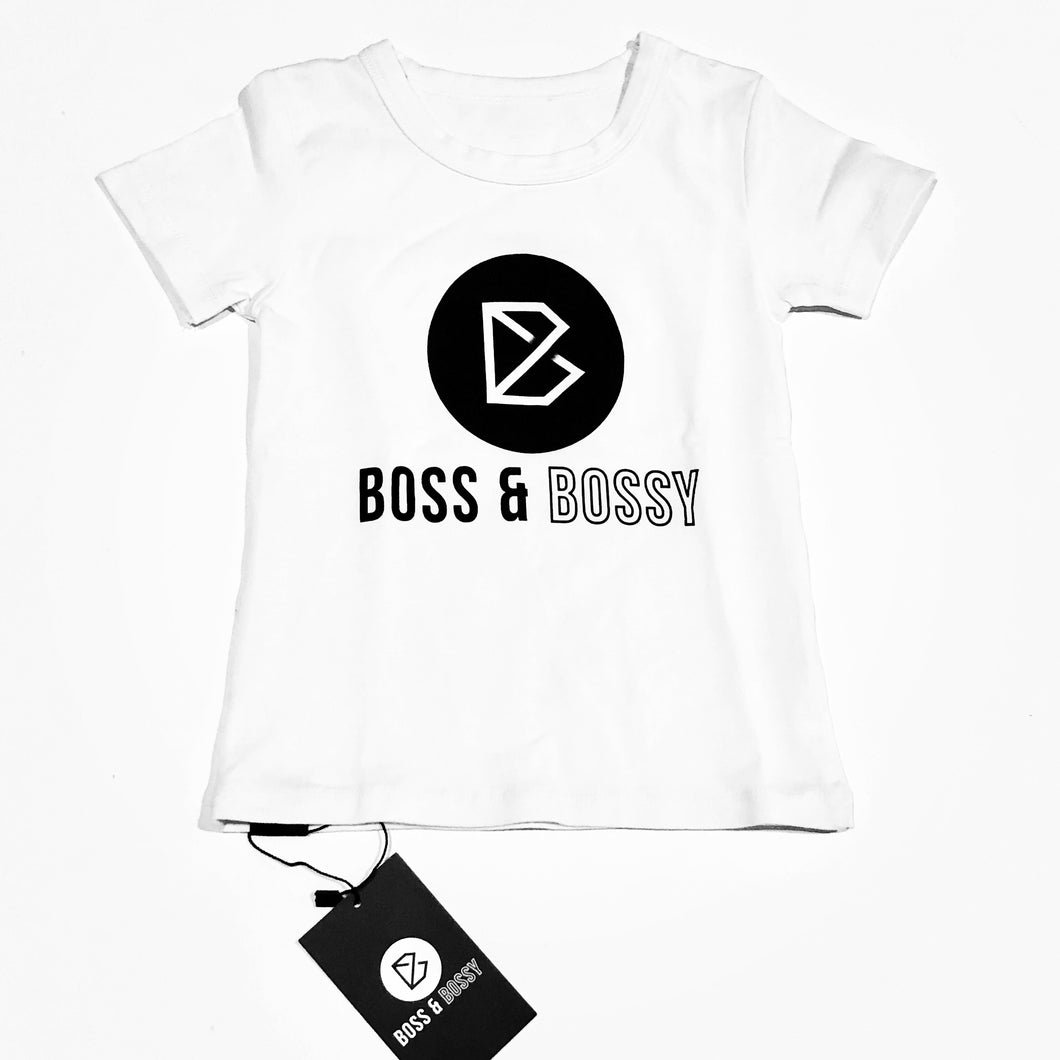 'Boss and Bossy' White Signature T-Shirt
