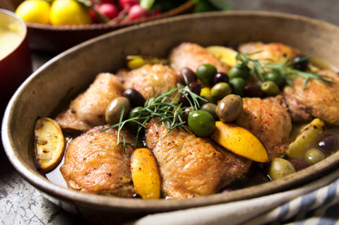 Recipe: Braised Chicken With Lemon and Olives
