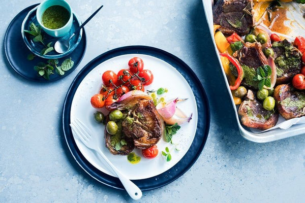 Eagle Vale Olives Recipe Baked Lamb Chops