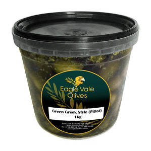 Eagle Vale Olives Australia Best Marinated Green Table Olives Greek Style 1kg pail