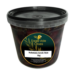 Eagle Vale Olives Australia Best Marinated Kalamata Table Olives Greek Style 1kg pail