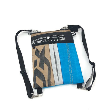 An upcycled KitePride stylish, handmade in Tel Aviv Laptop Sleeve 13'' with Straps designed to fill your everyday needs with a social and environmental impact.