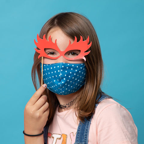 Mask Kids - Spotty Blue