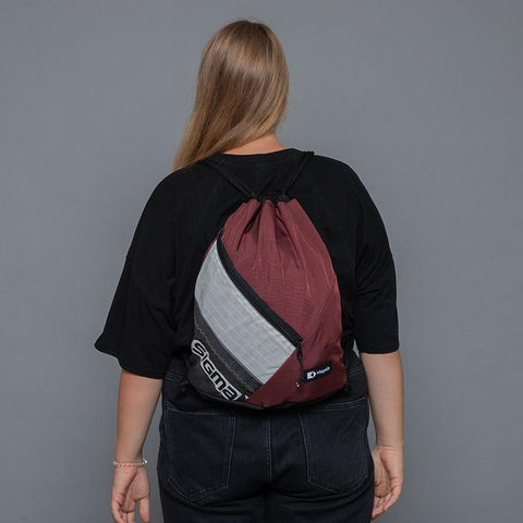 This upcycled KitePride stylish, handmade in Tel Aviv Drawstring Bag is designed to fill your everyday needs with an added social and environmental impact.