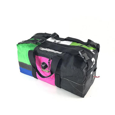 A stylish, handmade, upcycled and very practical duffle bag designed to fill your everyday needs.