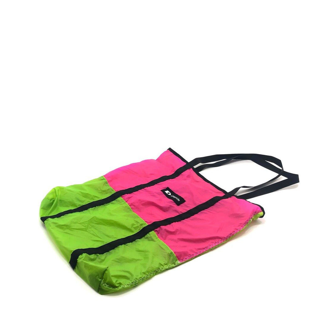 Shopper - Lime & Pink