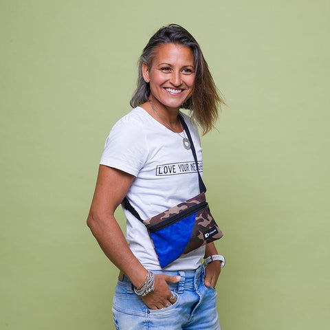 This upcycled KitePride stylish, handmade in Tel Aviv Fanny Pack is designed to fill your everyday needs with an added social and environmental impact.  Edit alt text