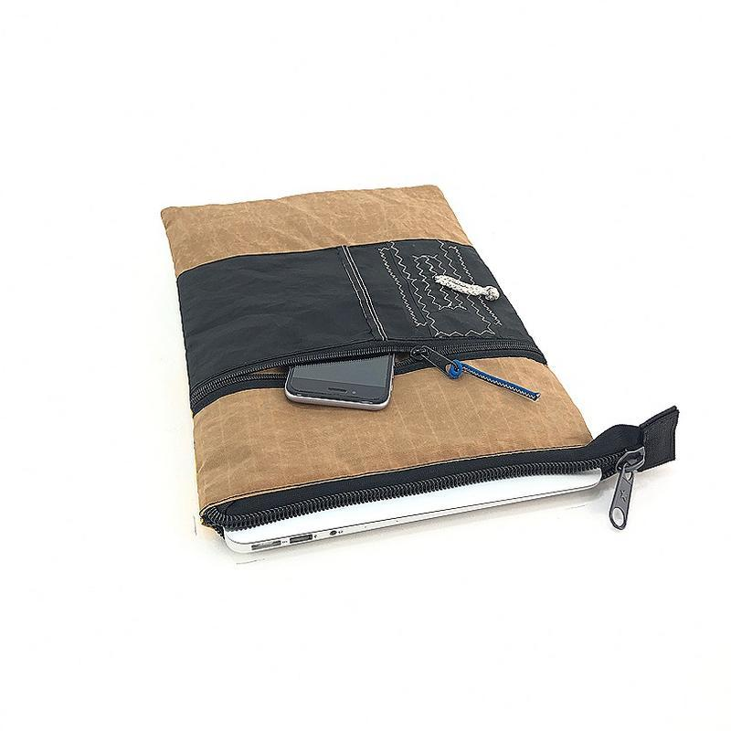 A handy handmade, upcycled and 13'' laptop sleeve