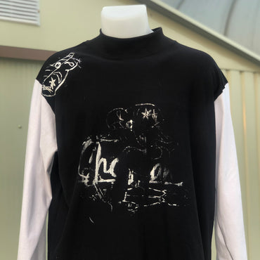 Popeye Sailor Black - White Print Long Sleeve