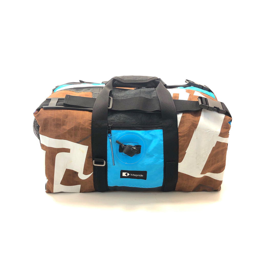 KitePride upcyled kite duffle backpack