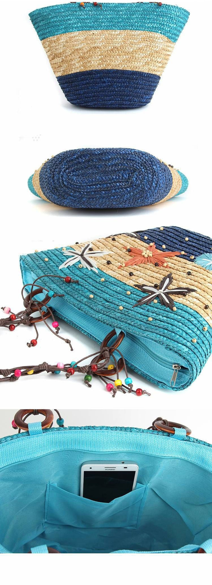 Starfish Beach Bag-Blue