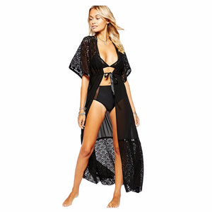Pelican Sands Lace Cover Up-Black