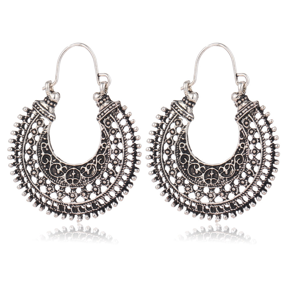 Tougea Bohemian Earrings-Silver