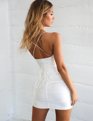 Gaetana Plunging Neckline Dress