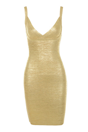 Roxy Gold Bodycon Dress