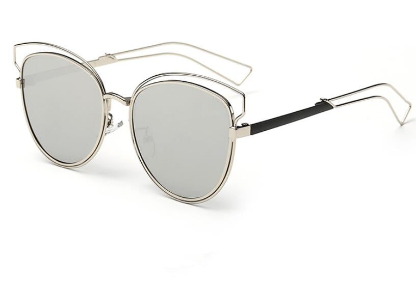Reflective Cat Eye Sunglasses